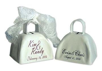 While We Often Engrave MOEN Bells Left As Gifts The Most Popular For Wedding Favors Are Our Imprinted WHITE BARGAIN BELLS